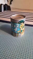 Flintstones Tin Bank 1988 Hanna Barbera Made by Kanely,  School House Pebbles