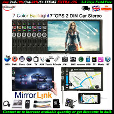 "7""2 DIN GPS Car Radio FM/DVR/AUX Bluetooth MP5 Player Touch Screen +8G TF+Camera"