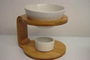 Duftlampe Bambus Glas Afrika Pajoma Teelichter Aroma Lampe Duft Schale Keramik 1