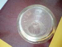 Vintage Glass Clag Glue Bottle Inscribed Angus&Co,