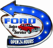 Ford Service Light up Tin Sign 7 Lights Official Design Bar Birthday Gift