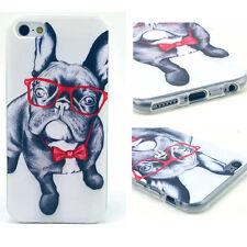 Cute Dog Cartoon TPU Silicone Case Cover Skin for iPhone Samsung Sony Moto HTC