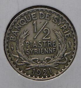 Syria 1921 1/2 Piastre  291971 combine shipping