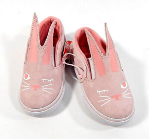 Vans Slip-On Bunny Toddler Shoes Chalk Pink True White Size 6 New In Box
