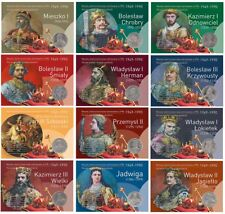 50-100-500 pln Blisters set of coins of PRL kings 12 pieces