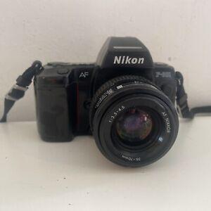Vtg 80s NIKON N8008 F801 35mm FILM AF SLR CAMERA BODY+Nikkor 35-70mm Lens