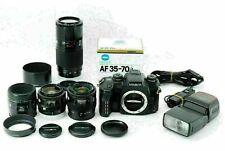 Near Mint Minolta Maxxum Dynax alpha-7 + 3 Zoom Lenses + 1 Macro Lens From Japan