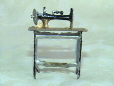 Antique Dollhouse Metal VICTORIAN SEWING MACHINE Vintage Miniature PENNY TOY ?