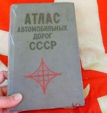 VTG RUSSIAN USSR MAP, ATLAS of CAR ROADS 1972