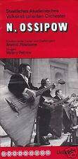 Konzertprogramm, Staatl. Akademisches Volksinstrumenten-Orchester N. Ossipow