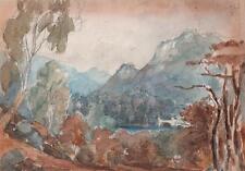 VALLEY OF THE BRANN DUNKELD SCOTLAND Victorian Painting C LOUISA MACKAY 1870