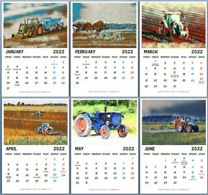 2022 Tractor Calendar A4 Tractors Farmer Gift Diary Hanging Planner Christmas UK