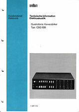 Service Manual-Anleitung für Braun CSQ 1020