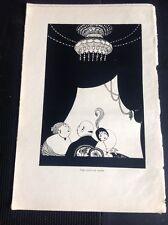 N1-1 Ephemera Book Plate Illustration A H Fish- The Curtain Rises