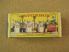 VINTAGE LESNEY MATCHBOX # A-1 BP GAS PUMPS ORIGINAL BOX ONLY TEAR