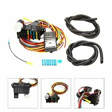 Universal 8 Circuit Fuse 12V Wire Harness Muscle Car Hot Rod Street Rod Rat Rod