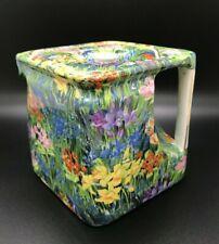 "Royal Winton Grimwades MAYFLOWER Chintz ""The Cube"" Shape Teapot  / Tea Pot VHTF"