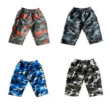 Mens Swimming 3/4 Board Shorts Army Camo Camouflage Quick Dry Beach Holiday Swim