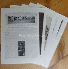 WW1 RAILWAY BATTLES OF NORTHERN FRANCE 1914 The Great War 8 x Original Prints