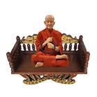 Wooden Buddha Seat Bench Lanna Thai Antique Furniture Style Worship Blessing