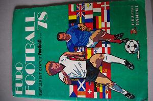 eurofootball 78 panini complet