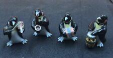 4pc Mini Penguin Band Porcelain Figurine