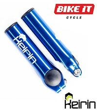 KEIRIN CYCLE BAR ENDS BLUE - CNC LIGHTWEIGHT ALLOY  MTB TOURING XC MOUNTAIN BIKE