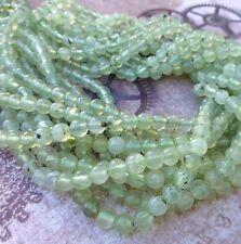 6mm natural préhnite gemstone beads strand 65