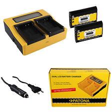 2x Batteria Patona + caricabatteria rapido DUAL LCD per Nikon EN-EL11