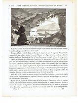 """1825 """"Saint François de Paule"""" Ordre Minimes San Francesco da Paola Francisco"""