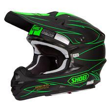 Shoei Vfx-W Motocross MX Enduro Casco Bicicleta Hectic TC-4 Negro Mate / Verde