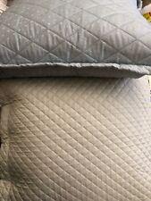 "New 2X Ralph Lauren Designer bedford quilted 20""X20"" Designer Pillow Blu/Gren"