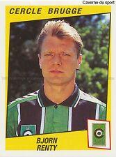 N°076 BJORN RENTY # BELGIQUE CERCLE BRUGGE STICKER PANINI FOOTBALL 1997
