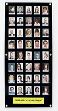 Black Staff Photo Display Board 40 Photo Capacity With Clear Security Front