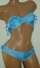 INSIGHT Size 4 New Wave Blue Ruffled Bikini 2 Piece Swimsuit Set