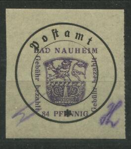 Lokal Bad Nauheim 5 II y mit Plattenfehler IV postfrisch (B11996b)