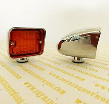 "Hot Rod Turn Signal Lights - Amber Lens - 6 LED - 2 1/2""x 2 1/2"" x 2"" - 1 Pair"