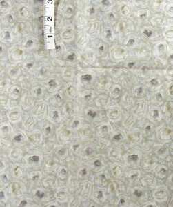 Grey,Tan 'Eyes' Print Cotton Quilt Fabric,Beth Bruske for David Textiles