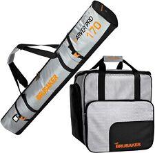 BRUBAKER Ski Bag Combo Tec Pro - Boot Bag and Ski Bag - Silver/Orange