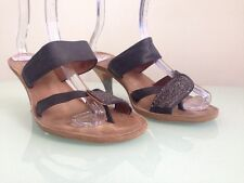 Dries Van Noten Leather  Toe Sandal Heels, Size 40