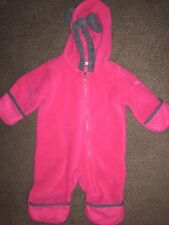 Columbia Baby Snow Bunting Fleece 3-6 months Red Pink Bear
