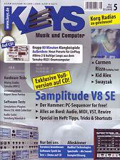Keys 05 2006 en CD 80 Minutos Ejemplos sanos / Samplitude V8SE / PC-secuenciador