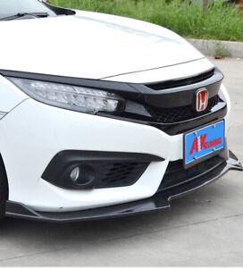 Street Design Front Lip For 2016-2020 Honda Civic 10TH Sedan/Hatch (GLOSS BLACK)