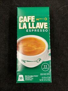 CAFE LA LLAVE NESPRESSO COFFEE CAPSULES, INTENSITY 11 (10 CAPSULES)