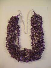 LIA SOPHIA Genuine Amethyst Hawaiian Lei Necklace RV $450