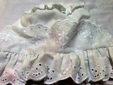 Baby New Born White Summer Hat Cap 100% Cotton Lace Pink Bow New Traditional