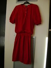 Vintage Valentino Red Dress (1980s) Size 10 ... 'RARE'
