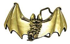 Vampire Bat Fibbia della Cintura Dark Gothic Ottone Massiccio Autentico prodotto Baron Buckles