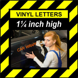 12 Characters 1.25 inch 32mm high pre-spaced stick on vinyl letters & numbers