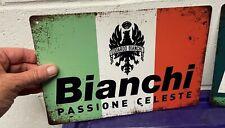 Bianchi Retro Tin Advertisement - Hanging Sign - Italian Bike Ad